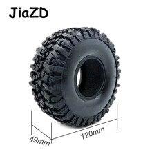 4 шт. 120 мм 1,9 дюйма резиновые шины для колес 1:10 RC Rock Crawler Axial SCX10 90047 D90 D110 TF2 для фототехники W121
