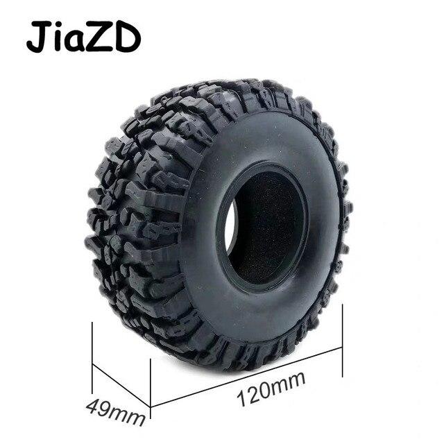 Neumáticos de goma para TRX 4 W121 4 Uds., neumáticos de 120MM y 1,9 pulgadas para 1:10 RC Rock Crawler Axial SCX10 90047 D90 D110 TF2