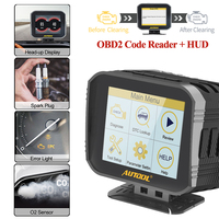 AUTOOL X80 Car Engine Code Reader Hud Compute Obd2 Head Up Display 2 IN 1 Automotive Diagnostic tool Full OBDII EOBD Scanner|Code Readers & Scan Tools| |  -