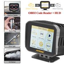 AUTOOL X80 samochodu czytnik kodów silnika Hud obliczyć Obd2 wyświetlacz Head Up 2 w 1 samochodowe narzędzie diagnostyczne pełne obdii skaner eobd