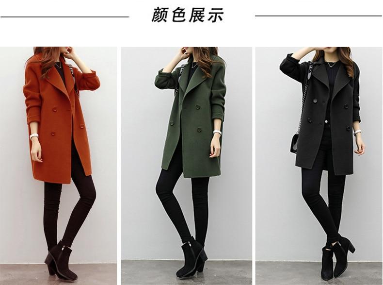 2019 Winter Coat Women Plus Size Korean Fashion Belt Womens Coats Slim Artificial Wool Outerwear Warm Winter Jacket For Female 2