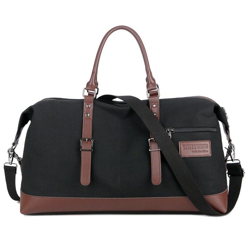 Fashion Portable Travel Bag Casual Environmentally Friendly Waterproof Canvas Bag Large Capacity Crossbody Shoulder Luggage Bag