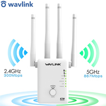 Signal-Amplifier Range-Extender WIFI Wavlink Ac1200 Wireless with Antennas-White