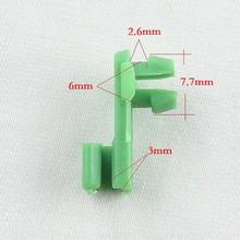 Series 100 Pcs For Honda side door lock rod plastic clips green retainer car clamp Replaces OEM Part 72116-SV4-003