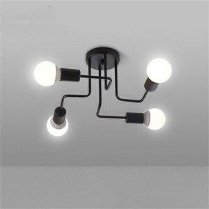 Image 5 - Modern LED Ceiling Chandelier Lighting Nordic Chandeliers Ceiling E27 Retro Industrial Loft Light Fixture For Living Room lustre