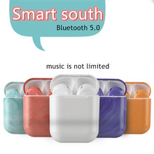 i15 tws  Fingerprint Touch Bluetooth Earphones Wireless Earbuds Hands free Sport Headset music colorful shell