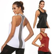 Women 2020 Hot Back Mesh Spliced Yoga Vest Sports Shirt Sleeveless Gym Running Vest Fitness Jogging Yoga Tank Top Sportwear