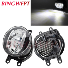 2 pcs/par (direita + esquerda) amortecedor dianteiro do carro alta brilhante led luz de nevoeiro para toyota highlander 2008 2010 para venza 2009 2010   2012