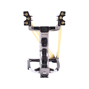 Powerful Hunting Slingshot With Wrist Support and Compass Decoration Catapult Professional Slingshot  for Outdoor Shooting 1