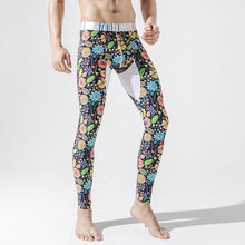 New Men's Cotton Fashion Long Johns Winter Warm Printed Ther