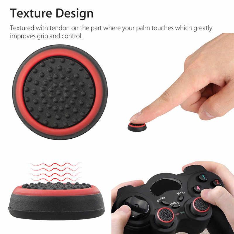 4 قطعة سيليكون التناظرية متحكم الأصابع Xbox One قبضة غطاء ل Xbox 360 واحد بلاي ستيشن 4 ل PS4/PS3 برو سليم غمبد غطاء المقود غطاء