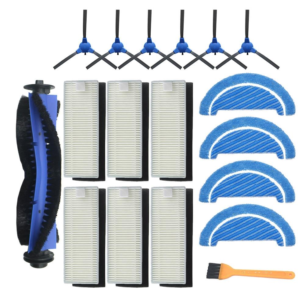 Robô escova lateral hepa filtro pano mop para cocotec conga excelência 1090 robô aspirador de pó peças acessórios kit substituição