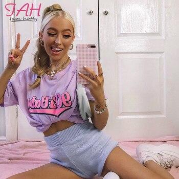 pink oversized womens top tshirt