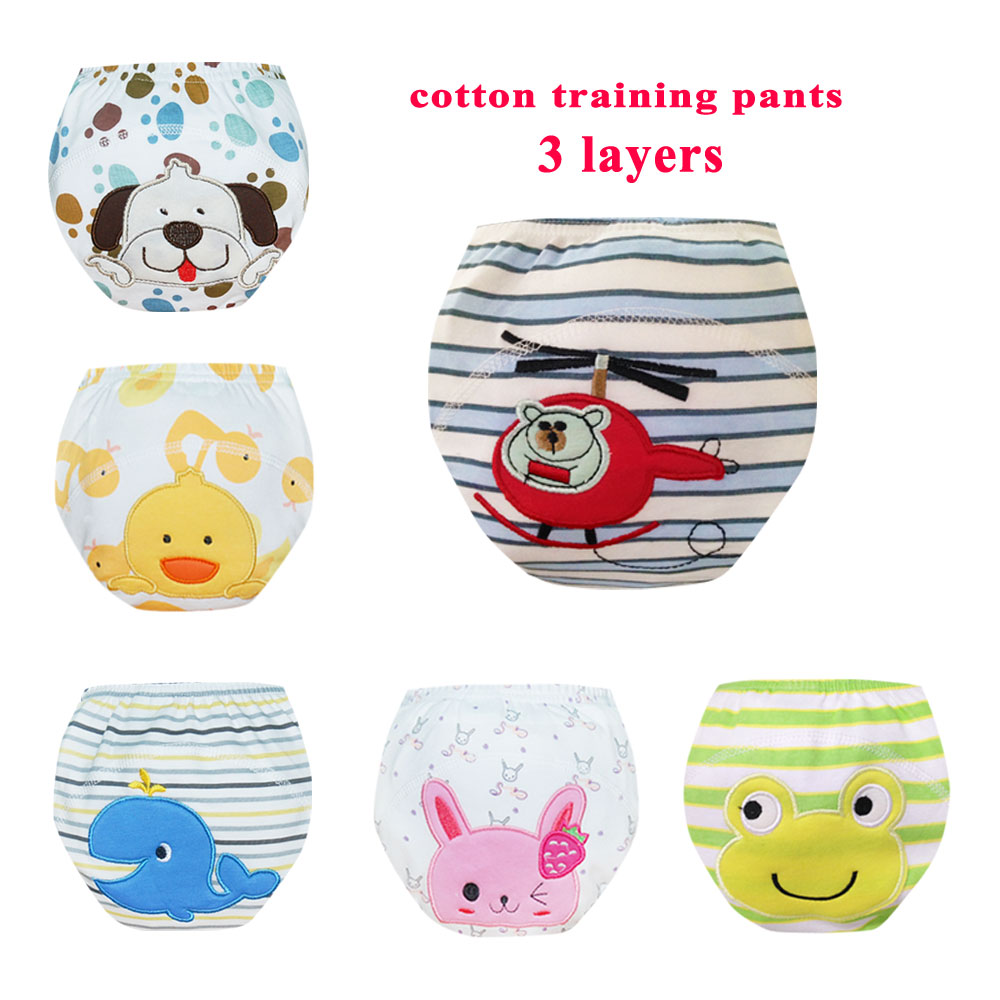 Babyfriend Reusable Baby Training Pants 5 Layers Baby Kids Cloth Diaper Cover Infant Diaper Panties Washable Baby Nappies