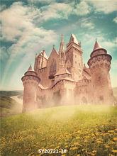 Виниловый фон для фотосъемки на заказ с изображением замка #6003