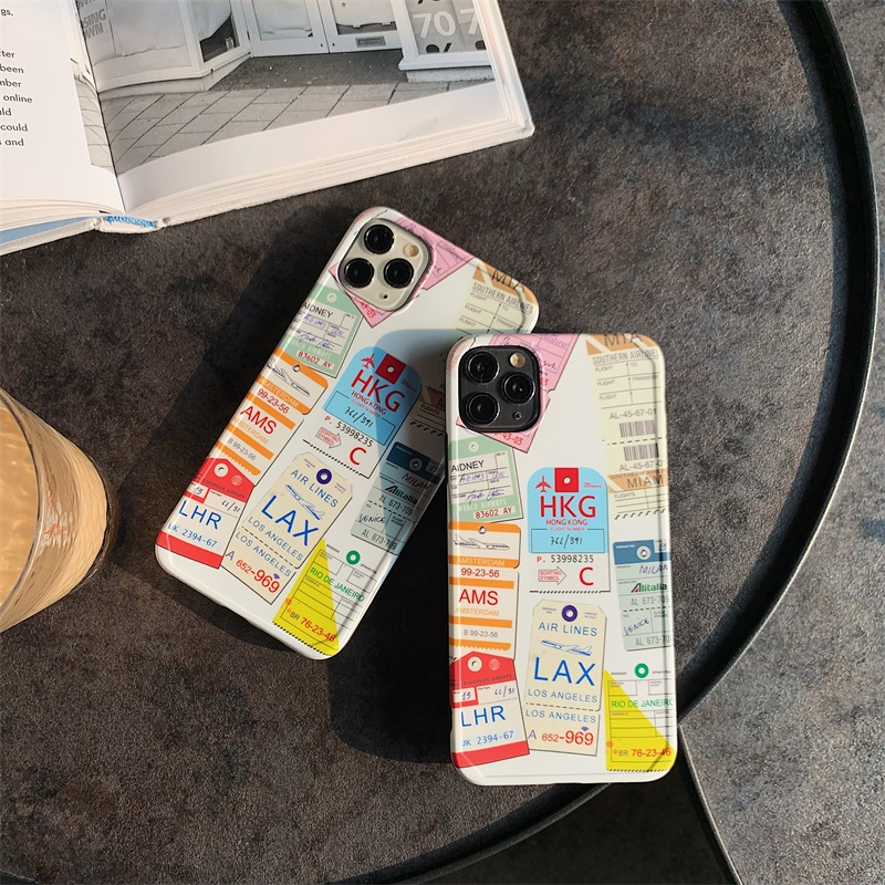 Airline Baggage Tickets Travel Phone Case for iPhone