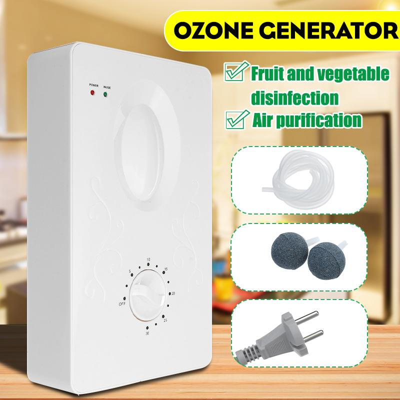 400mg/h Air Ozonizer Air Purifier Home Deodorizer Ozone Ionizer Generator Sterilization Germicidal Filter Disinfection Clean Roo
