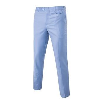 2020 Slim Fit Summer Business Men Formal Suit Pants Wedding Bridegroom Trousers L-6XL 5 Color High Quality Trousers