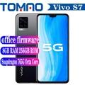 Vivo S7 5G мобильный телефон Snapdragon 76 5G 4000 мА/ч, 33 Вт тире зарядки Android 10,0 8 Гб Оперативная память 128 Гб 256 Встроенная память 6,44