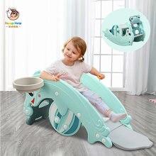 Детская многофункциональная лошадка качалка три в одном комнатная