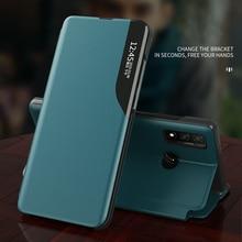 Telefoon Geval Voor Huawei P Smart 2020 Cover Pc Venster Magnetische Leather Shockproof Flip Case Cover Voor Huawei P Smart plus Y5 2019