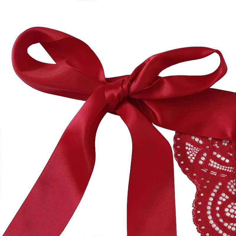 النساء حمالات الصدر عيد الميلاد اللعوب مثير الملابس الداخلية الإناث الملابس الداخلية دعوى القوس الدانتيل ثلاث نقاط عيد الحب الملابس مثير مجموعة غريبة مجموعة