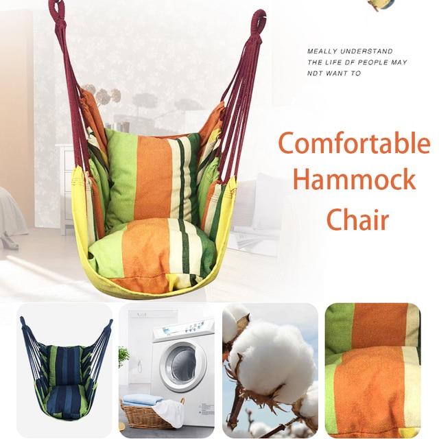 Patio Hammock Chair in Metal Frame 4