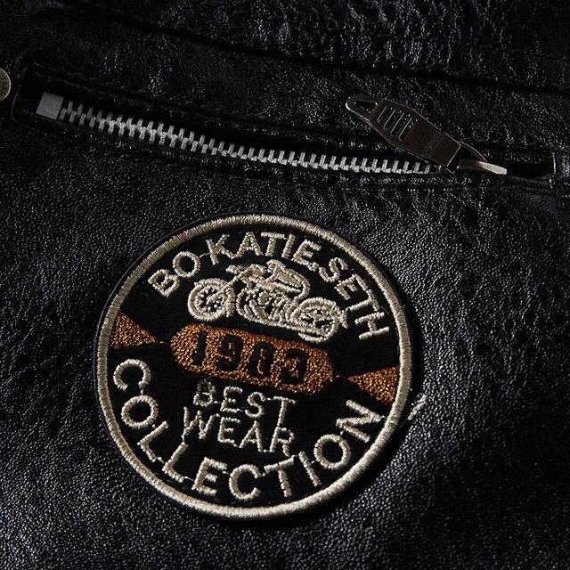 Leather Jacket Men Winter Fleece Motorcycle PU Leahter Jacket Male  Stand Collar Casual Windbreaker Ropa De Hombre Slim Coat 4XL 4