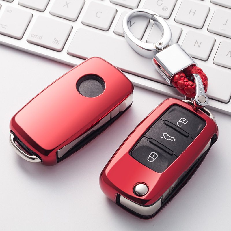Soft TPU Car Key Cover Case Shell Fob For VW Golf Bora Jetta POLO GOLF Passat For Skoda Octavia A5 Fabia For SEAT Ibiza Leon