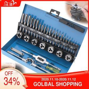 Image 2 - Zestaw gwintowników metrycznych ze stali stopowej 20 sztuk/32 sztuk M3 M12 narzędzie do gwintowania stali stopowej z futerał do przechowywania do obróbki metalu