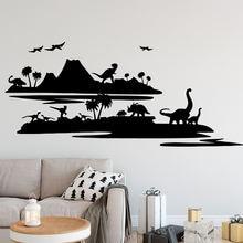 Стильная мультяшная Наклейка на стену с драконом украшение модная