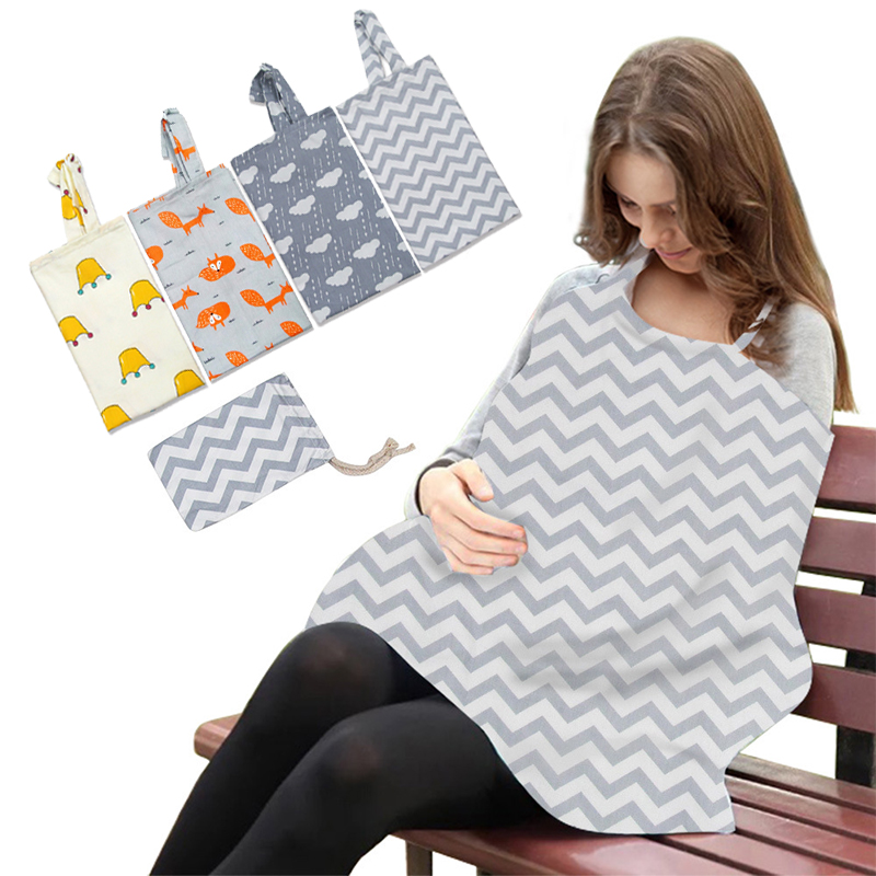 Breastfeeding Cover Baby Infant Breathable Cotton Muslin Nursing Cloth Big Nursing Feeding Cover Cape Apron