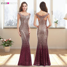 Bridesmaid Dresses Tulle Ever-Pretty Wedding Elegant Women V-Neck Appliques for Party