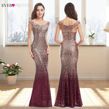Robe de soirée longue étincelle 2020 nouveau col en v femmes élégant EB29998 Sequin sirène Maxi robe de soirée robe abendkleider 2020