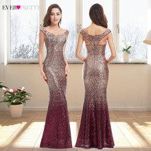 Suknia wieczorowa długi blask 2020 nowy dekolt w serek kobiety elegancki EB29998 cekinowa sukienka Maxi syrena suknia wieczorowa na przyjęcie sukienka abendkleider 2020