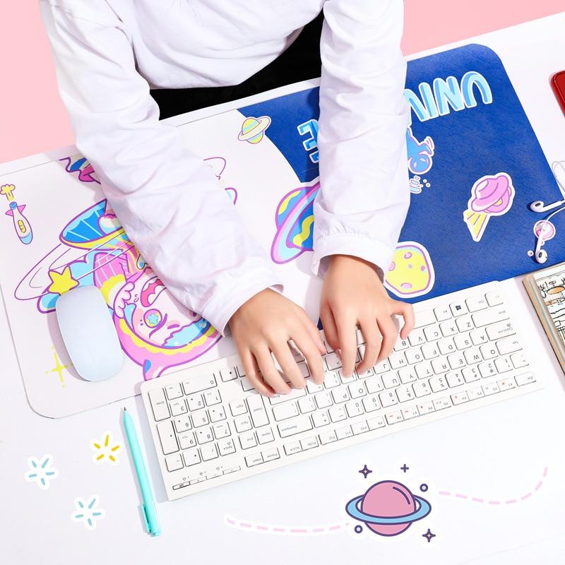 65x30cm Cartoon Desk Pad Large Mouse Pad Gamer Waterproof PU Leather Desk Mat Computer Keyboard Kawaii Table Decoration Cover