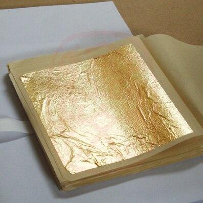 1Pcs 9.33cm Genuine 24 Karat Edible Gold Leaf Sheets 1pcs Cake Decorating Tools Gilding Desserts Gold Glitter Dust Flakes