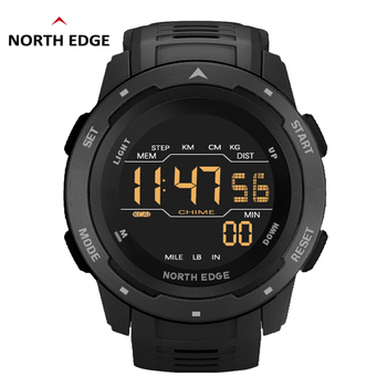 NORTH EDGE Digital Watch Men Military watch Sports Watches Fashion Running Sports Swimming Waterproof 50M Men's Electronic clock watches men sports silicone clock male digital shock wrist watch led military waterproof electronic stop watch running outdoor
