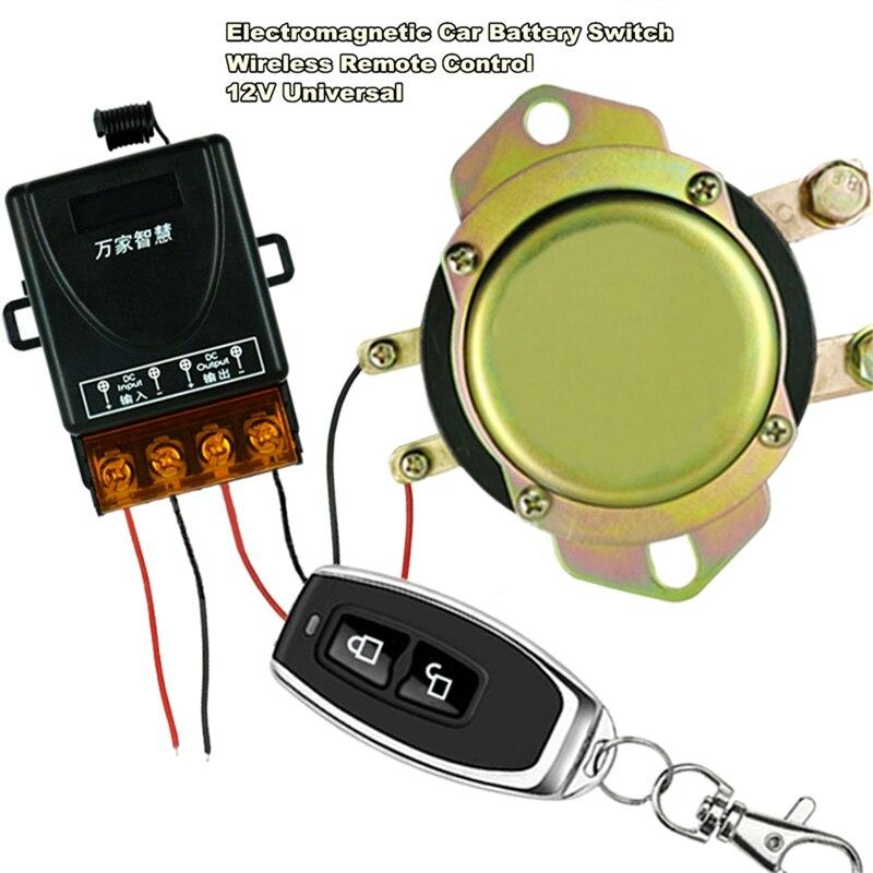 Универсальный 12В Автомобильный выключатель батареи беспроводной пульт дистанционного управления ручное управление отключение реле Солен...