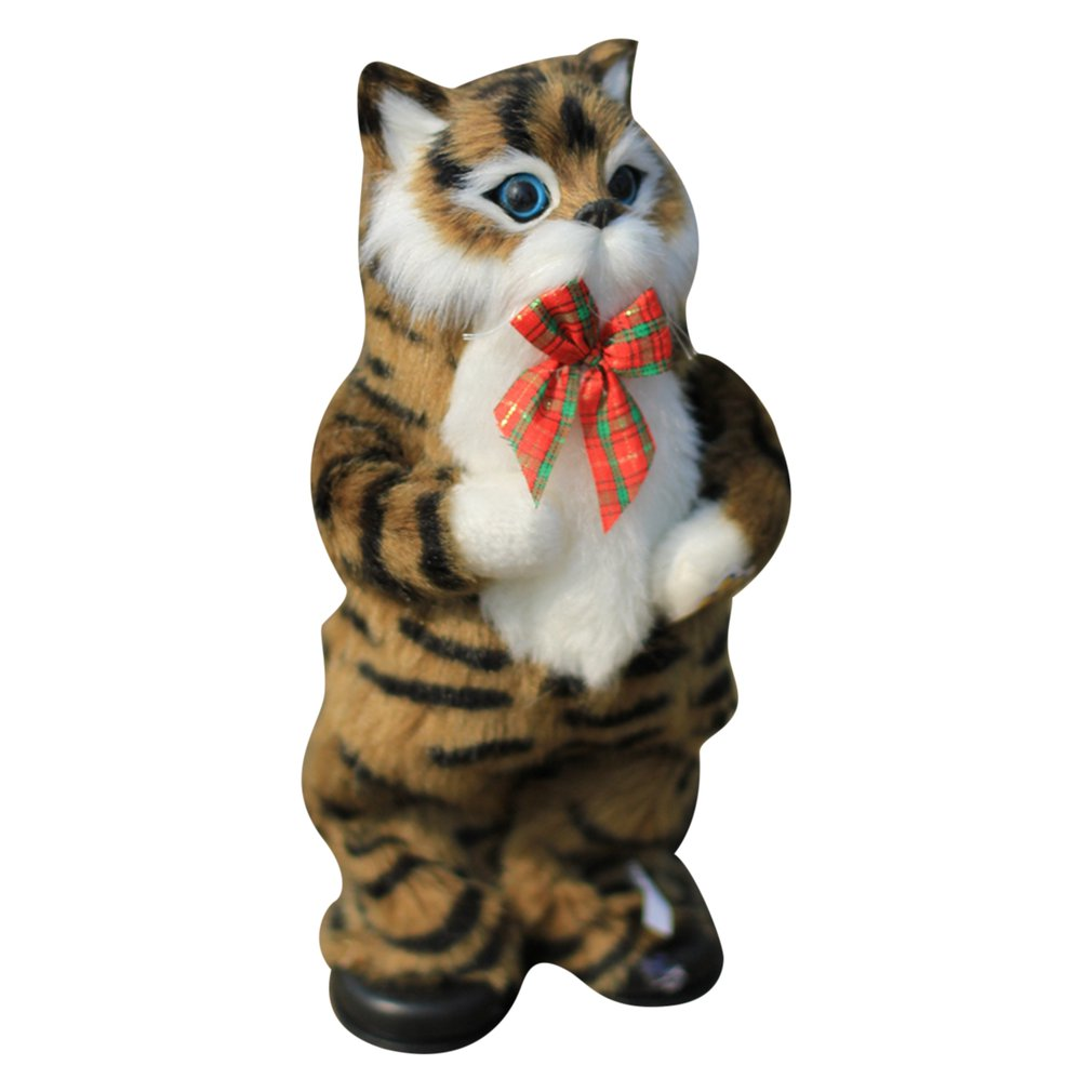 Cute Simulation Cat Electric Yellow Cat Singing And Dancing Cat Doll Gift Kids Interactive Toys Birthday Gift