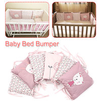 6 Pcs Newborn Baby Infant Crib Bumper Bed Protector Baby Kids Cotton Cot Nursery Bedding Rabbit Bumpers for baby
