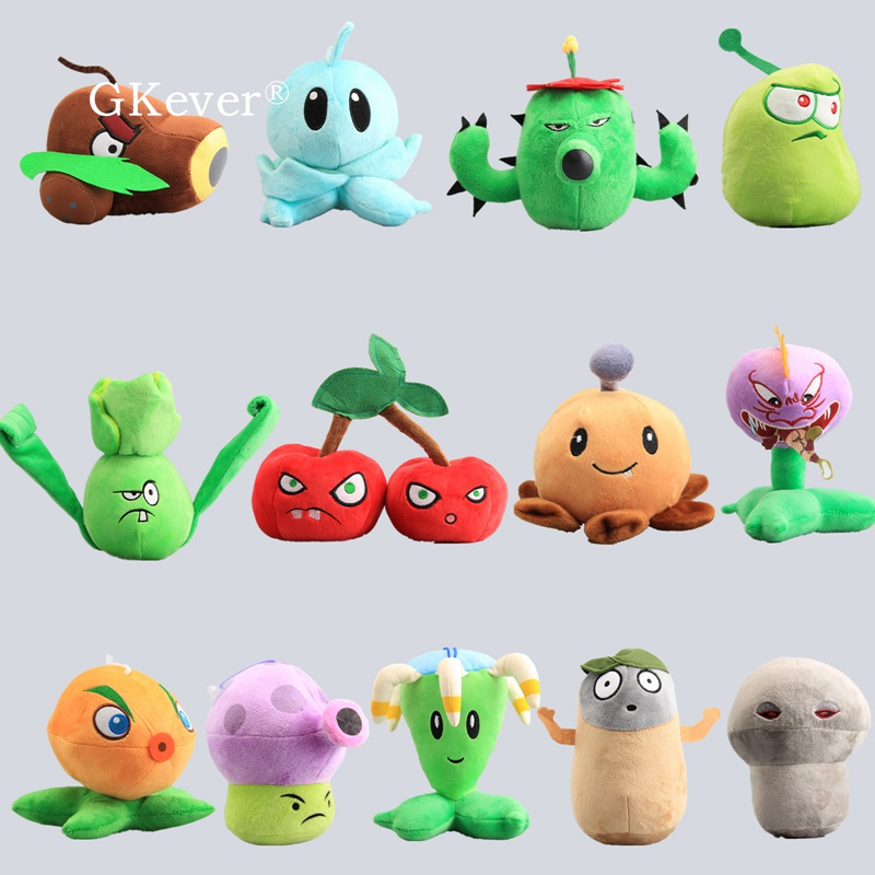 13 Styles PVZ Plants VS Zombies Cherry Bomb Potato Mine Coconut Cannon Iceberg Lettuce  Plush Toy Stuffed Dolls 15-18 Cm
