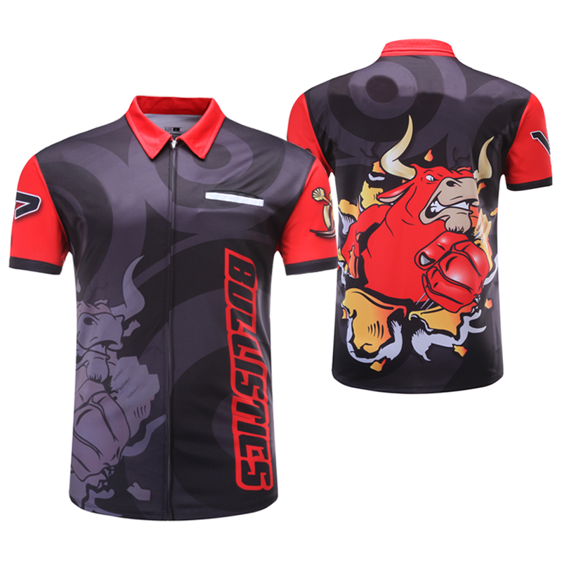 Shooting Shirt Customizing Shoot Darts Men's T Shirt Sublimation Printing China OEM Manufacturer Design Your Own 100% Polyester