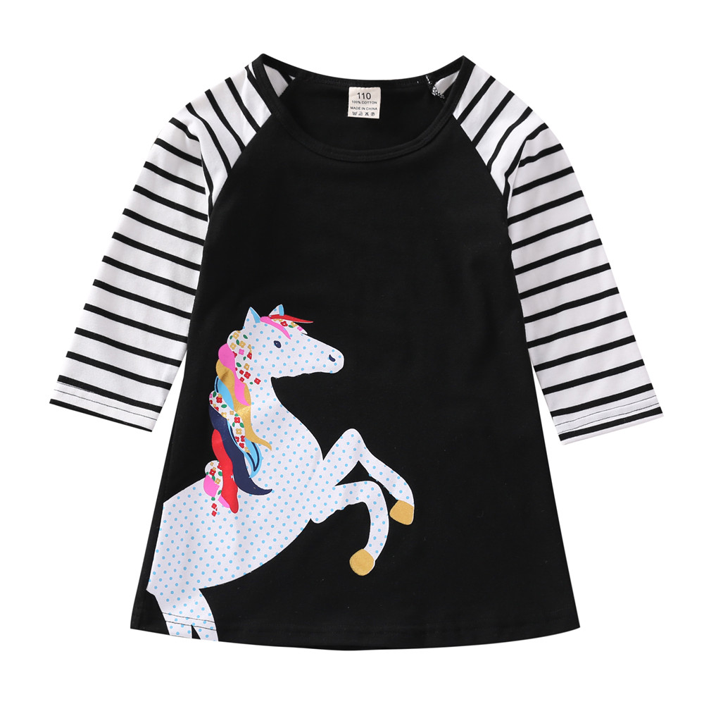 1 7 Years Kids Girl Dress Toddler Baby Long Sleeve Dresses Summer Children Clothing Girls Cotton 1-7 Years Kids Girl Dress Toddler Baby Long Sleeve Dresses Summer Children Clothing Girls Cotton Princess Dress Kid Tops Outfits