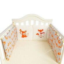 Bebek beşik tampon hemşirelik yastık tilki fil bebek yatak arka yastık karyolası tampon koruyucu yenidoğan bebek odası dekor 6 adet /12 adet