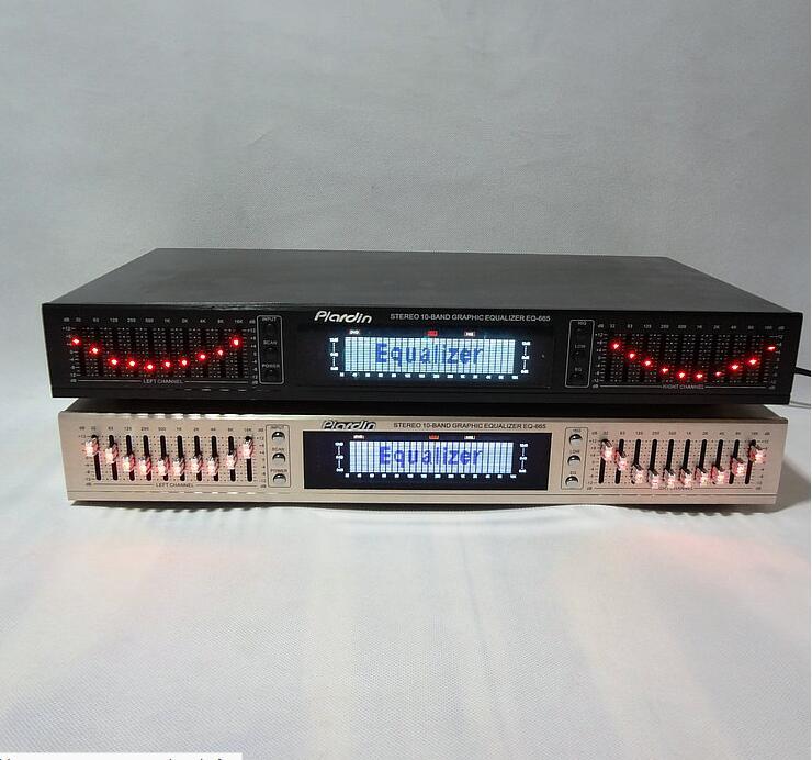 EQ665 Bluetooth égaliseur karaoké amplificateur pré-Tuner Double dix tuning