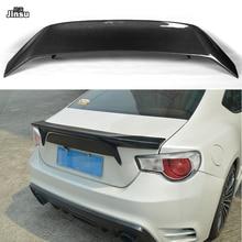 For Toyota 86 2012-2015 AB style Carbon fiber rear trunk spoiler lip For Scion GT86 For Subaru BRZ Car styling back wing 2pcs set carbon fiber side skirt molding mudflap trims for subaru brz 2013 2017 toyota 86 2012 2017 car styling