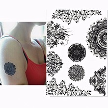 Women's Indian Style Black Tattoo Stickers
