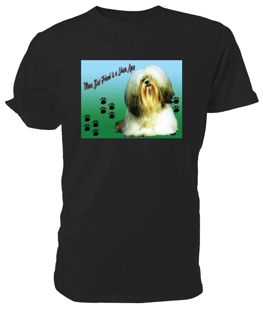 MANS Meilleur Ami-choix de taille et couleurs. Lhassa Apso chien T shirt
