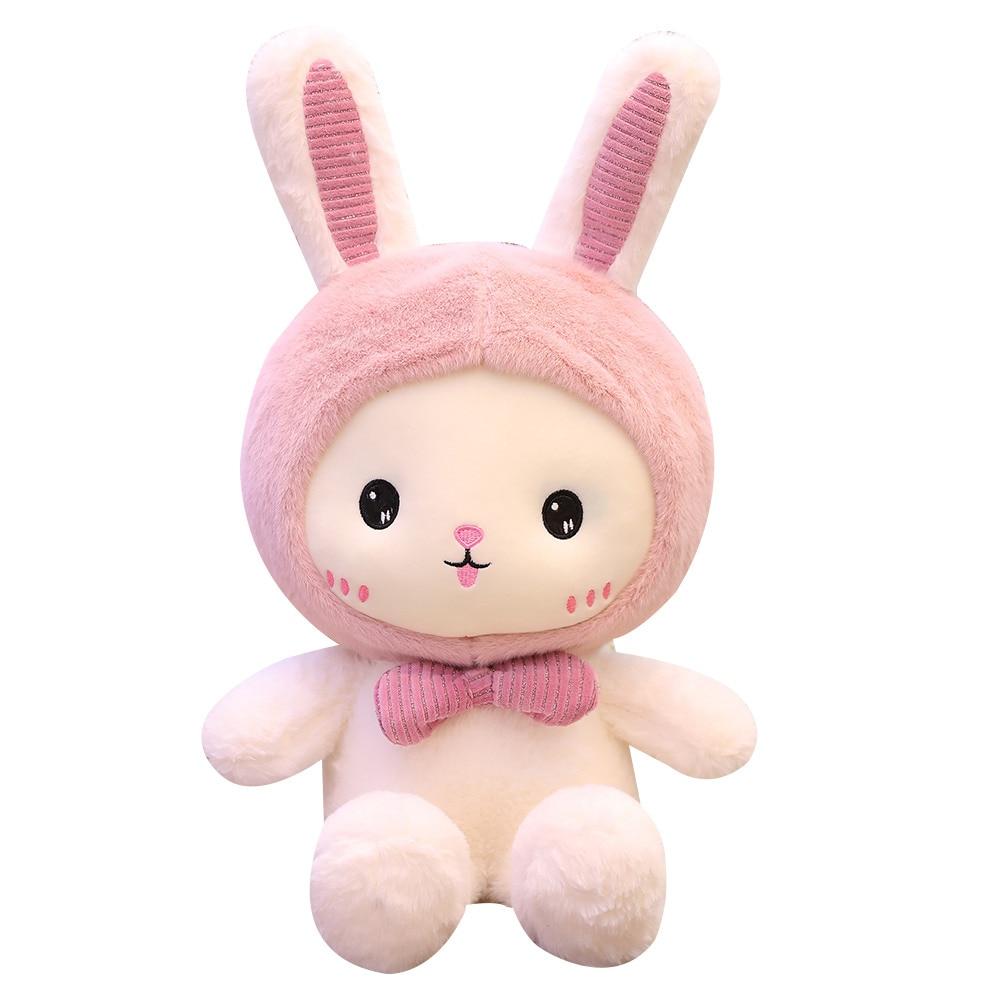 Neue Huggable 1pc 25-60cm Super Kawaii Kaninchen Plüsch Spielzeug Nette Shark Bär Gefüllte Weiche Begleiten Kissen kinder Geburtstag Geschenk Puppen